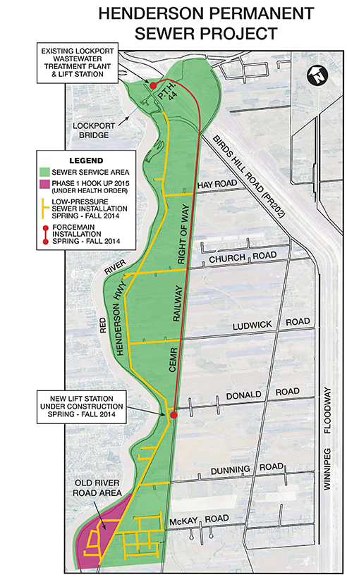 Henderson Sewer Project map