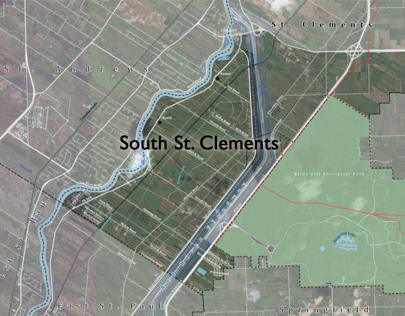 South St. Clements map