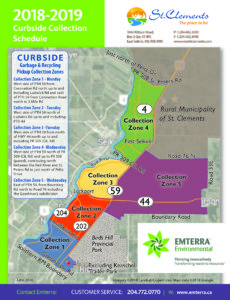 RM of St. Clements Curbside Pickup Map