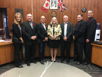 RM of St. Clements Council 2018-2020 (l-r) Sandra Strang Ward 1, Dave Sutherland Ward 2, Robert Belanger Ward 2, Mayor Debbie Fiebelkorn, Dave Horbas Ward 2, Glen Basarowich Ward 1, Scott Spicer Ward 1