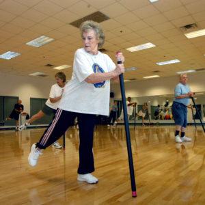 Seniors' fitness class